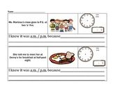 Telling Time Graphic Organizer