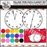 Telling Time Clock Clip Art Set Over 50 Images!