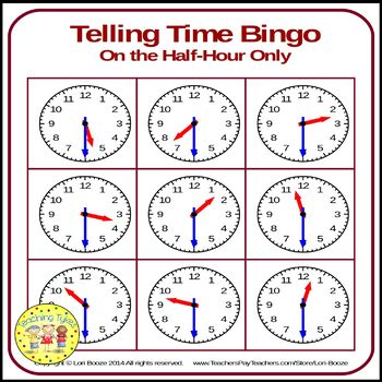 Telling Time Half Hour Bundle
