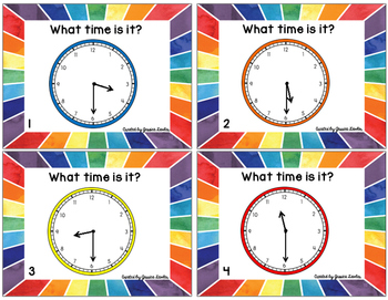 Telling Time Half-Hour Task Cards