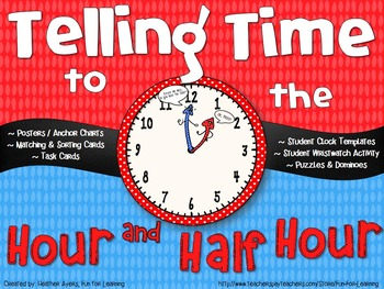 Telling Time: Hour & Half Hour