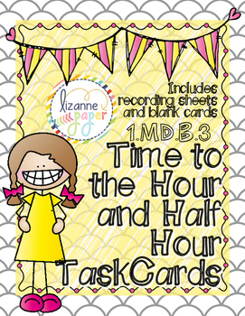 Telling Time (Hour & Half Hour) Task Cards