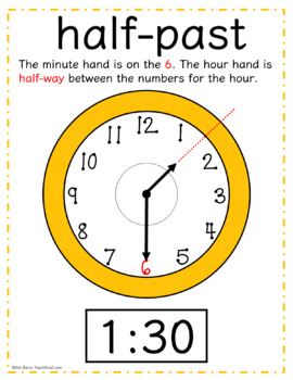 Telling Time- Hour, Half Hour, and  Quarter Hours