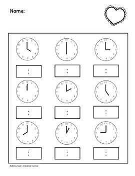 Telling Time (Hour) Practice