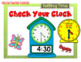 Telling Time ~ Hour and Half Hour Presentation with Checki