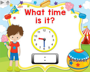 Telling Time Hour and Half Hour Bundle