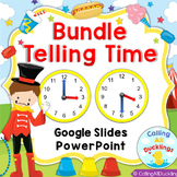 Telling Time Hour and Half Hour Bundle PowerPoint and Goog