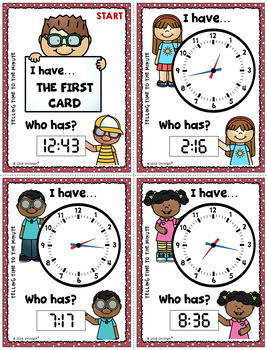 Telling Time to the Minute {I Have...Who Has?}