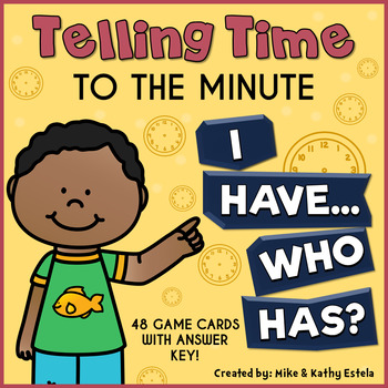 Telling Time I Have, Who Has Game {To the Minute}