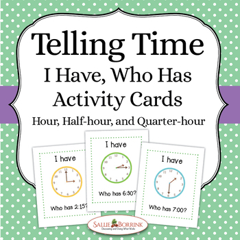 "Telling Time ""I Have Who Has"""