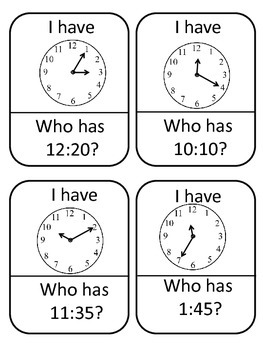 Telling Time I have Who Has