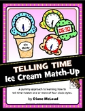Telling Time: Ice Cream Match Up activity and BONUS bullet