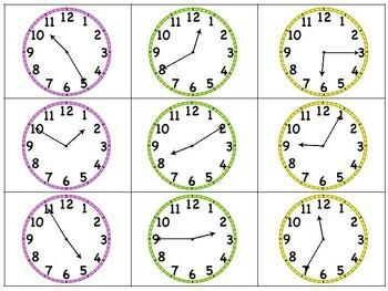 Time & Calendar Independent Center Game #2