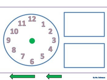 Telling Time Independent File Folder Practice