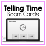 Telling Time Interactive Boom Cards