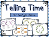 Telling Time Interactive Google Slides (for use with Google Classroom)