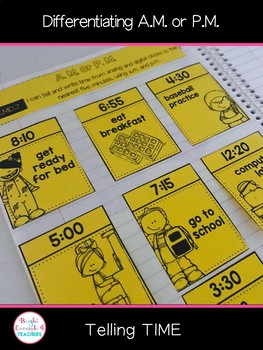 Telling Time: Interactive Notebook Activities