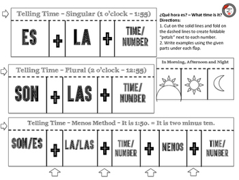 Telling Time Interactive Notebook Pages