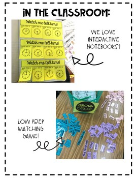 Telling Time Interactive Notebook and Activities.