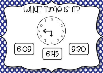 Telling Time Interactive PDF