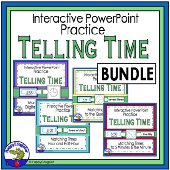 Telling Time Interactive PowerPoint Bundle