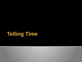 Telling Time Interactive PowerPoint 2.MD.7