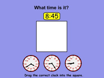Telling Time Interactive Smartboard Lessons for Grade 2