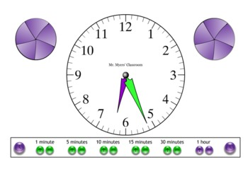 Telling Time Interactive Whiteboard Activity