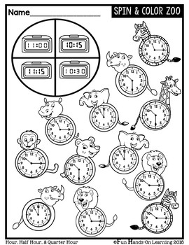 Telling Time Interactive Worksheets {NO PREP}