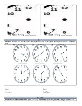 Telling Time Introduction- Remediation