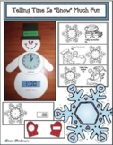 Winter: Snowman Craft: Telling Analog & Digital Time To The Hour & Half Hour