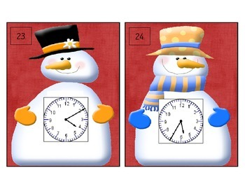 "Telling Time Is ""Snow"" Much Fun Scoot (Time to five minutes)"