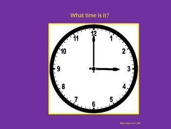 Telling Time Jeopardy