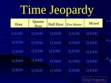 Telling Time Trivia- Hour, Half, Quarter, and Five Minute