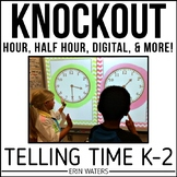 Telling Time Game [KNOCKOUT: Hour, Half Hour, Digital, & Analog]