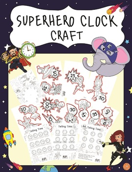 Telling Time Labels - Super Hero