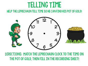 Telling Time Leprechauns