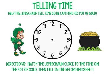 Telling Time Leprechauns