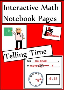 Telling Time Lesson for Interactive Math Notebooks
