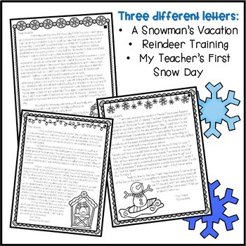 Telling Time Schedule Activity - Winter Themed