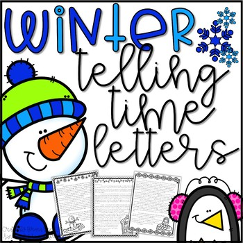 Telling Time Letters Activity - Winter Themed