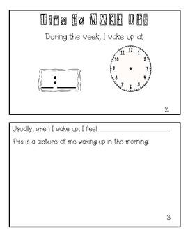 Telling Time! Make a Mini-book Schedule!