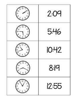 Telling Time Match-Up