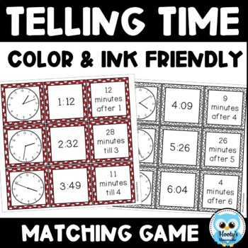 Telling Time Match - Time to the Minute