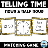 Telling Time Match {color} - Hour and Half Hour