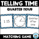 Telling Time Match {color} - Quarter Hour