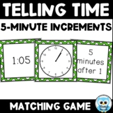 Telling Time Match {color} - 5 Minute Increments