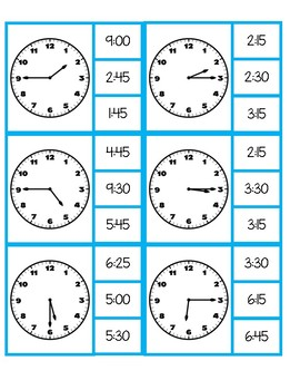Telling Time - Match and Clip Cards - Differentiated