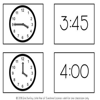 Telling Time Matching