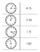 Telling Time Matching Center and Practice Worksheet